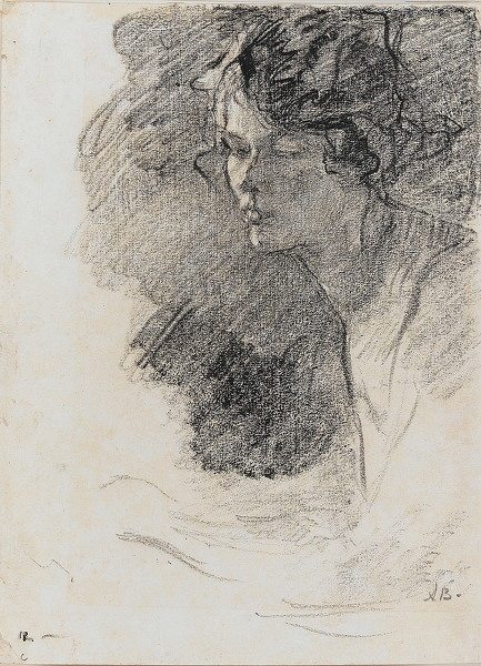 Artist Albert de Belleroche: Portrait of a young woman, circa 1900