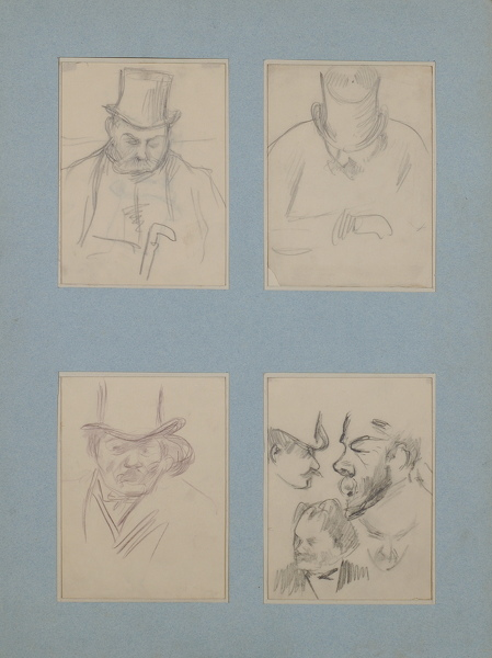 Four-portrait studies -