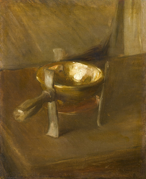 Still life with crucible, circa 1890 -