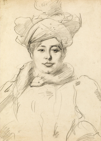 Artist Albert de Belleroche: Woman with Hat, circa 1905