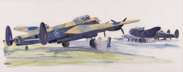 Artist Charles Cundall: Lancaster Bombers