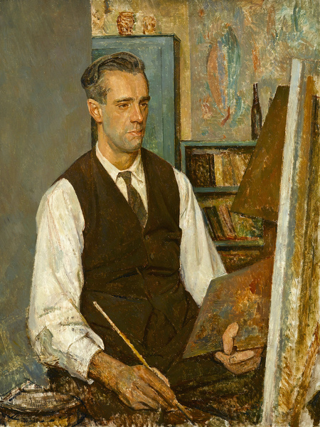 Artist Percy Horton: Portrait of an artist, possibly Stanley Badmin, circa 1925