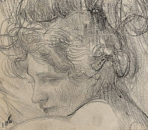 Head of a woman - three quarter profile, late 1890s -