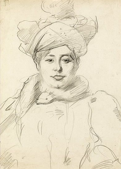 Woman with Hat, circa 1905 -