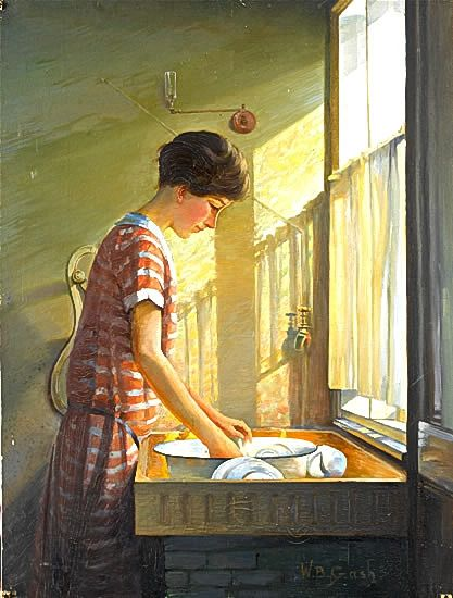 Artist Walter Bonner Gash: Washing Up