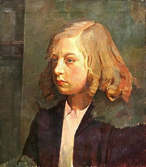 Artist Percy Horton: Portrait of a Young Girl - circa 1925