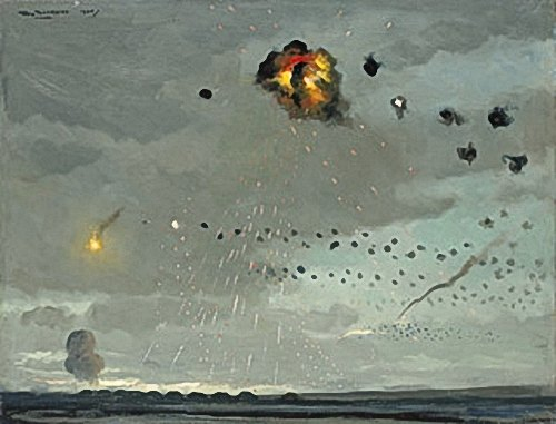 Roy-Nockolds: Anti-aircraft-batteries-attack,-1944