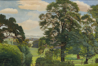 Artist Gilbert Spencer: Trees at Garsington, mid 1920s