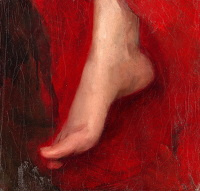 Artist Albert de Belleroche: Study of a foot, early 1880s