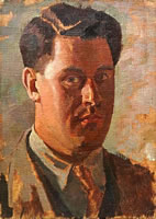 Artist Percy Horton: Self Portrait - circa 1925