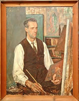 Artist Percy Horton: Portrait of an artist, possibly Stanley Badmin- circa 1925