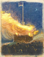 Artist Henry Payne: Bonfire to Celebrate the Coronation of George VI, 1936
