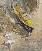 Artist John Edgar Platt: RAF Sea Rescue Launch, London Bridge, circa 1942