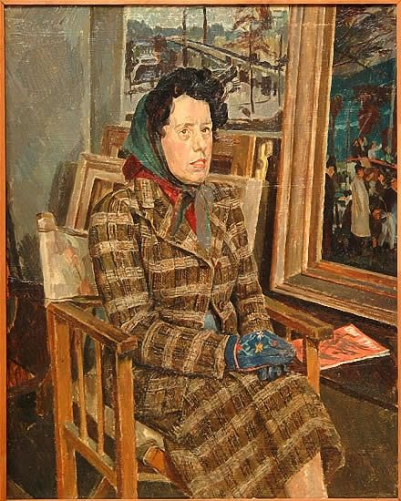 Artist Percy Horton: The artists mother in his studio, circa 1947