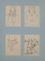 Artist Albert de Belleroche: Four-portrait studies