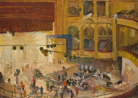 Artist Charles Cundall: The BBC recording at the Camden Theatre, circa 1950