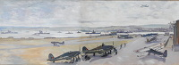 Artist Charles Cundall: Hatson Airfield, Orkney, circa 1941