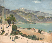 Artist Charles Cundall: From the Terrace, Monte Carlo, 1956