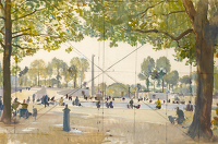Artist Charles Cundall: Tuilleries Gardens, 1955