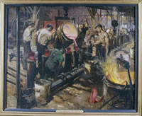 Artist Terence Cuneo: Casting Factory, 1944